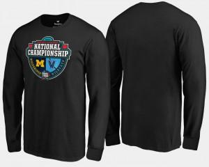Wolverines For Men T-Shirt Black Player vs. Villanova Wildcats Crossover Matchup Long Sleeve 2018 Basketball National Championship 146632-279