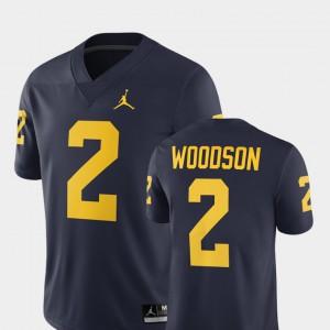 University of Michigan #2 For Men Charles Woodson Jersey Navy Player Alumni Football Game 2018 251682-170