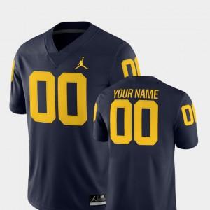 Michigan #00 Men's Customized Jerseys Navy 2018 Game College Football NCAA 288608-263