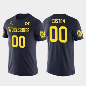 U of M #00 Men's Customized T-Shirts Navy Cotton Football Future Stars College 763668-464