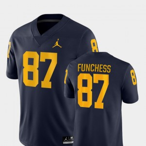 University of Michigan #87 Men's Devin Funchess Jersey Navy College Football Game Official 945246-680