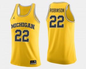Michigan #22 For Men Duncan Robinson Jersey Maize High School College Basketball 314039-881