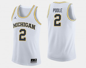 Wolverines #2 Men's Jordan Poole Jersey White College Basketball Stitched 889039-940