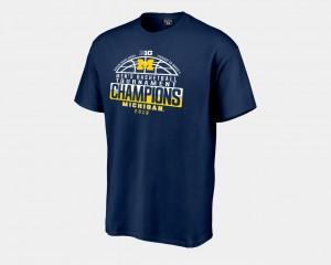 Michigan Men T-Shirt Navy 2018 Big Ten Champions Locker Room Basketball Conference Tournament Player 541611-247