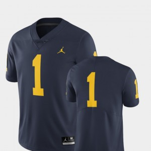 Michigan #1 Men's Jersey Navy NCAA College Football Limited 357898-794