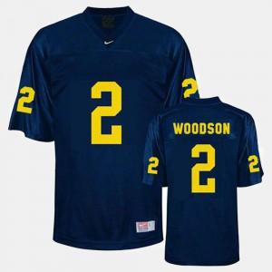 Michigan Wolverines #2 Men's Charles Woodson Jersey Blue Alumni College Football 666202-431