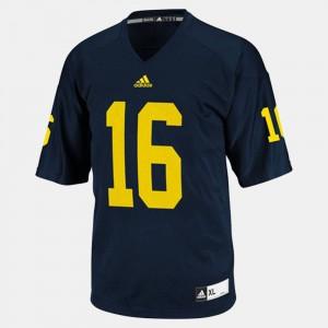Michigan #16 Men's Denard Robinson Jersey Blue College Football Stitched 797286-316