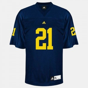 Wolverines #21 Men's desmond Howard Jersey Blue High School College Football 164462-709