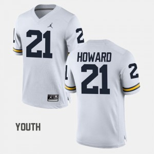 University of Michigan #21 Kids desmond Howard Jersey White NCAA College Football 730441-559