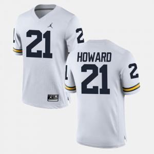 University of Michigan #21 Men's desmond Howard Jersey White NCAA College Football 386740-197