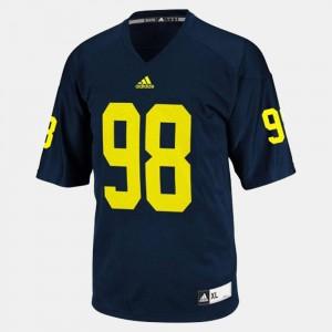 Michigan #98 Men's Devin Gardner Jersey Blue College Football Official 981490-215