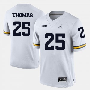 U of M #25 For Men Dymonte Thomas Jersey White College Football Embroidery 805413-848