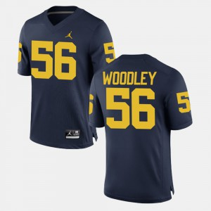 Michigan #56 For Men's Lamarr Woodley Jersey Navy Official Alumni Football Game 788615-454
