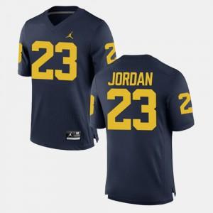 U of M #23 For Men Michael Jordan Jersey Navy High School Alumni Football Game 819352-523