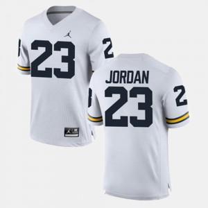Michigan #23 For Men's Michael Jordan Jersey White Alumni Football Game Official 246858-986