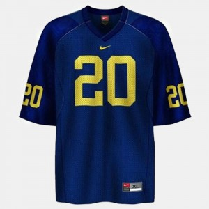 Michigan #20 For Men's Mike Hart Jersey Blue College Football Stitched 970422-731