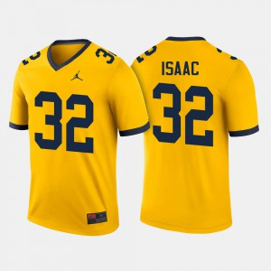Michigan Wolverines #32 Men Ty Isaac Jersey Maize NCAA College Football 675463-513