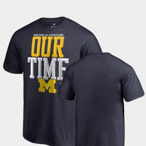 University of Michigan Kids T-Shirt Navy NCAA Counter 2018 Peach Bowl Bound 424024-523